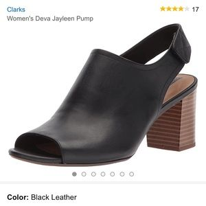 Clark's Deva Jayleen open toe pumps
